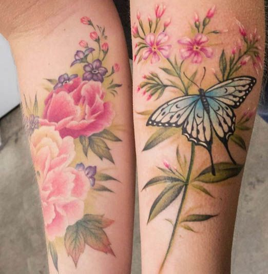 Tattoos Without A Black Outline Inked Magazine Part 3 Realistic Flower Tattoo Vintage Rose Tattoos Vintage Flower Tattoo