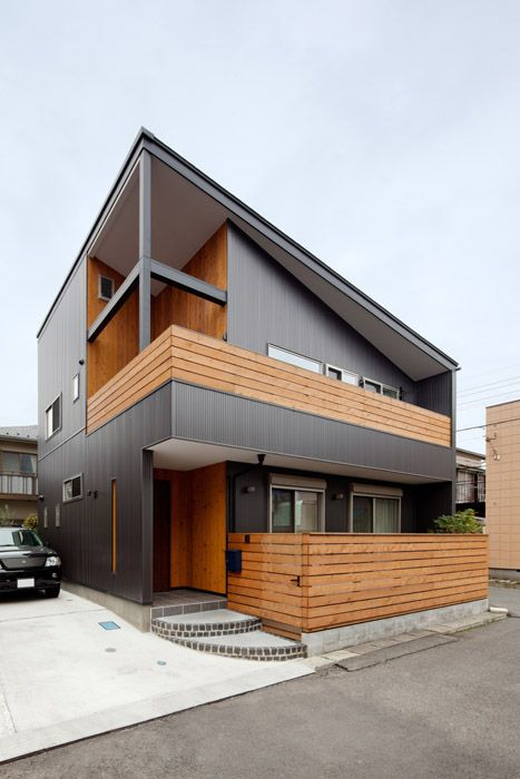 Pin do a wiyanto em homes facade pinterest for Loft modernos exterior