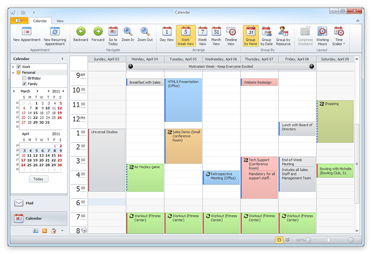 Outlook-Style Scheduler Control: Whether your next WinForms