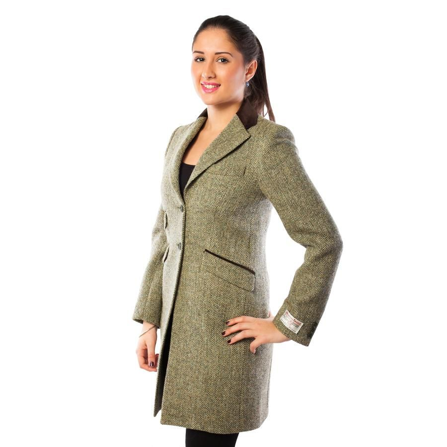 HARRIS TWEED AC9225 Ladies Jacket 100 % Pure New Wool Tori: Lovat ...