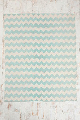 8x10 Blue Zigzag Rug From Urban Outers Comes In Yellow And Gray