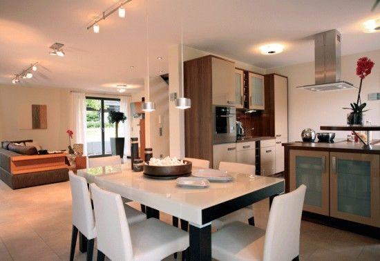 Fertighaus Wohnidee Küche und Esszimmer BRAVUR 550
