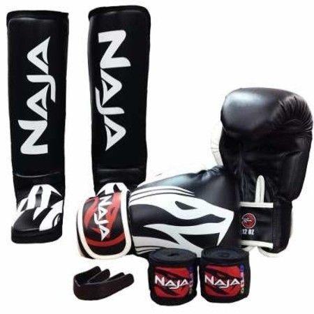 17c309730 Kit Muay Thai Boxe Naja Extreme Luva+protetor Bucal+bandagem ...