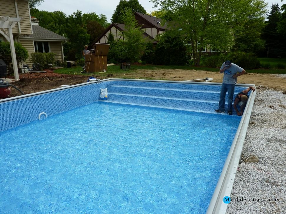 Swimming Pool Swimming Pool Ladder Installation Above