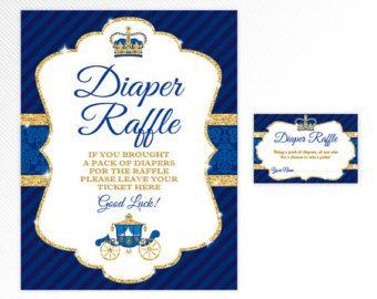 Ethnic Prince Diaper Raffle Ticket African by LegendImaging