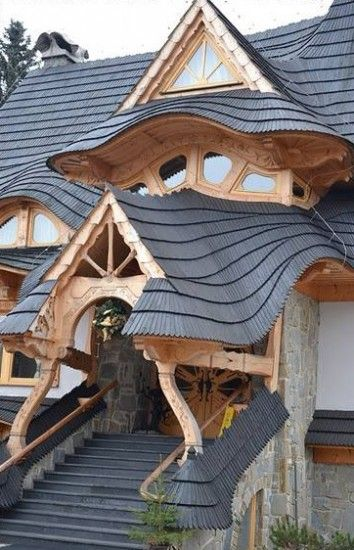 Living Learning Teaching Unique House Design Unusual Homes Fairytale House