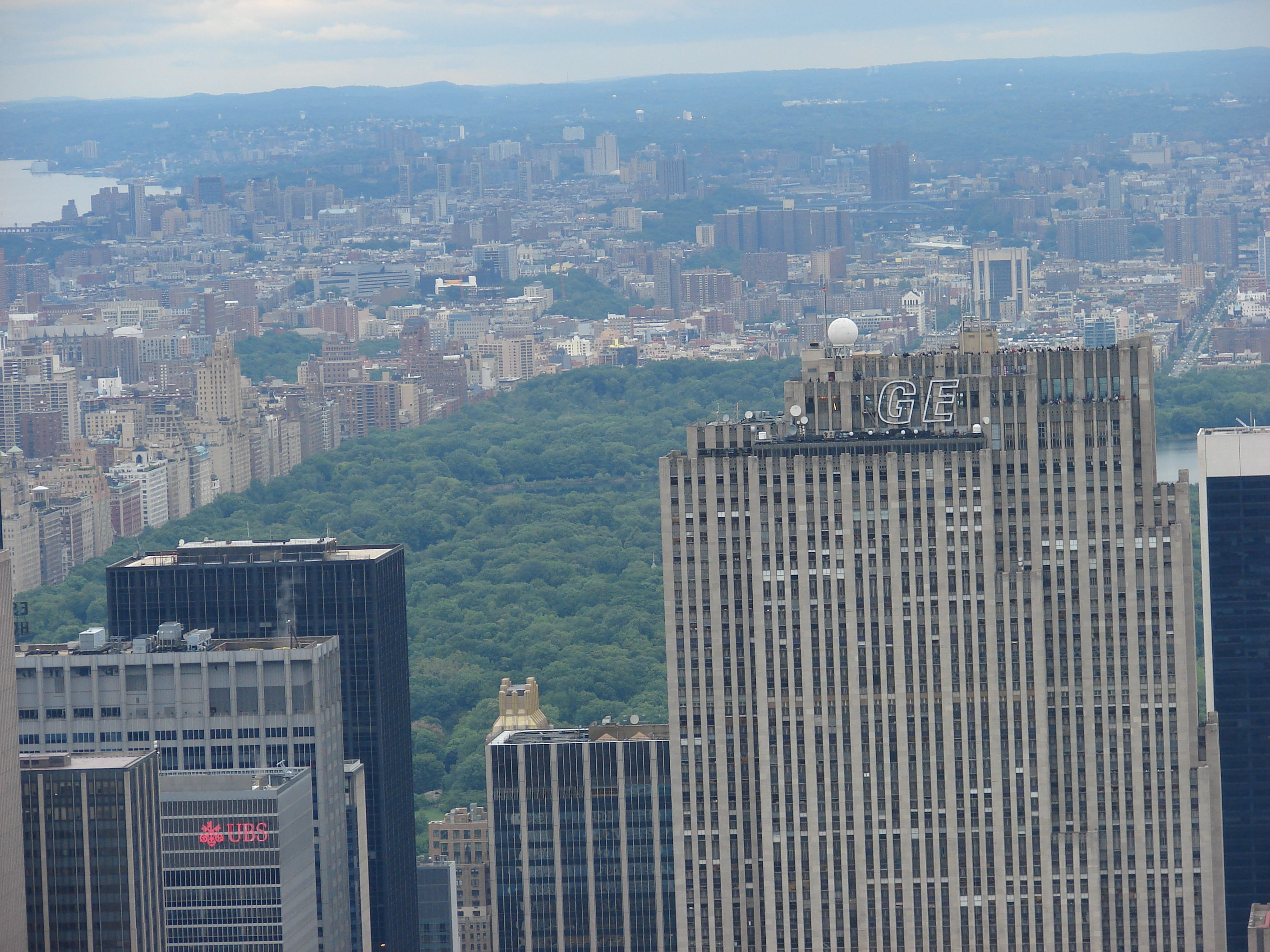 Central Park from top of Empire State Building. New york