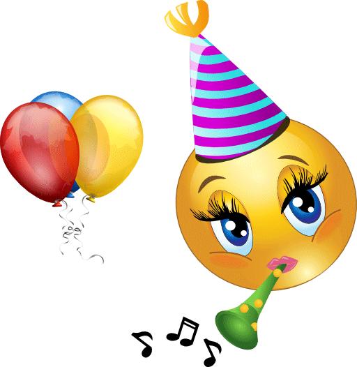 Celebrating Smiley Happy Birthday Emoji Birthday Emoticons Emoji Birthday