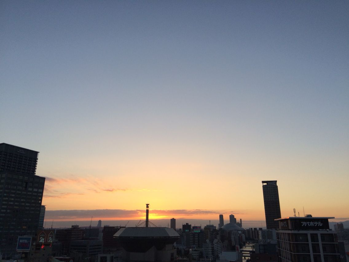 Sunset time on October 24, 2014