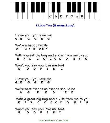 Simple Kids Songs For Beginner Piano Players Easy Piano Sheet