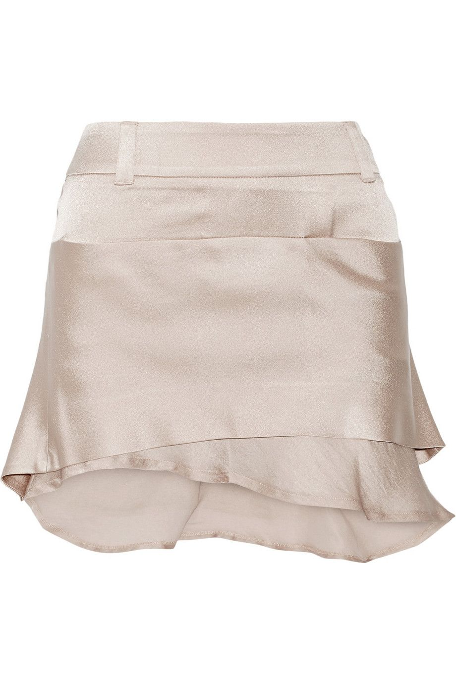 Haider Ackermann | Layered satin mini skirt | NET-A-PORTER.COM