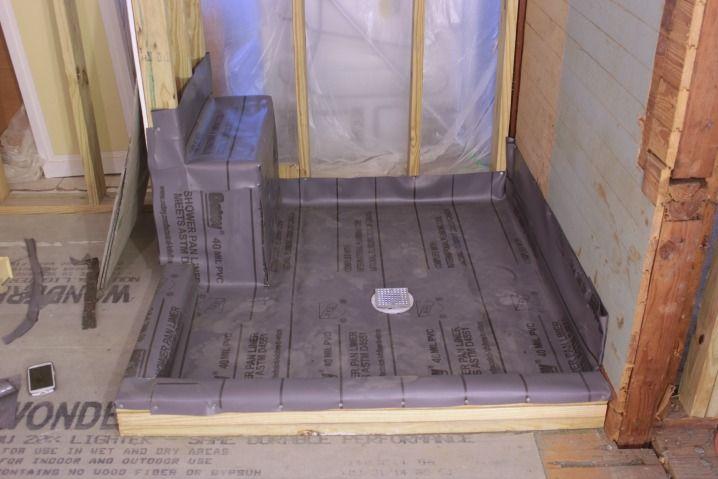 Installing A Pvc Shower Liner Shower Pan Liner Shower Liner
