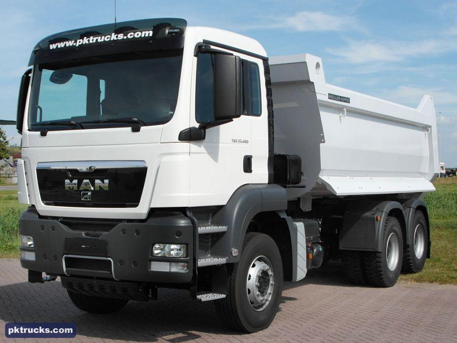 2 units MAN TGS 33.400 BBWW 6x4 Meiller, 16.5 cbm, tipper