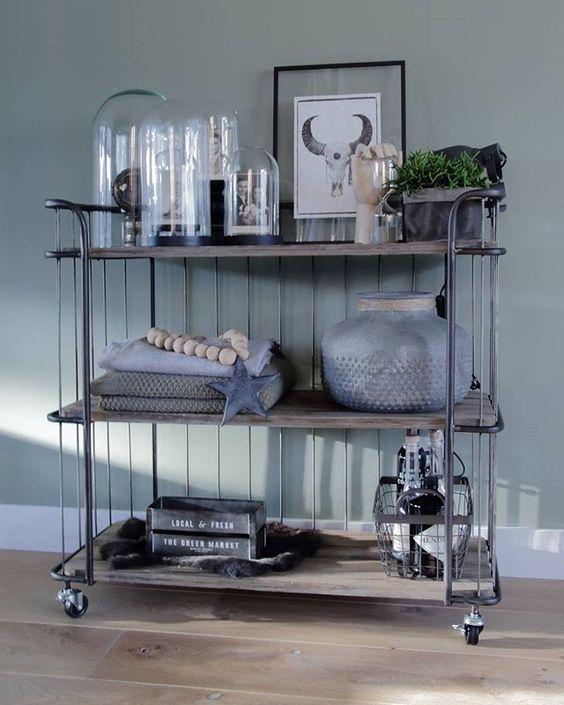 Trolley bakkerskast industri le kast cabinet industrieel interieur decoratie decoreren - Decoratie hoofdslaapkamer ...