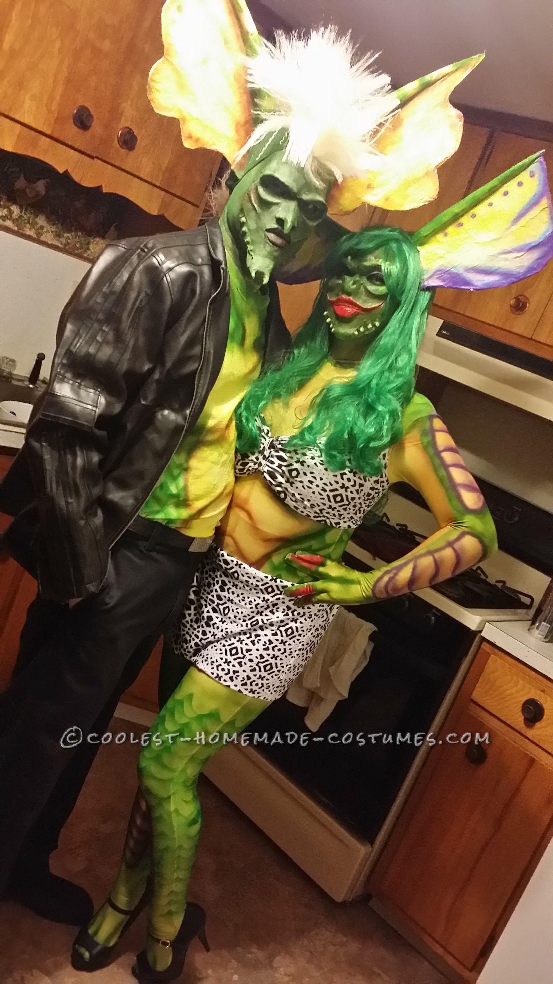 Coolest Homemade Gremlin Couple Costume   Halloween costume ...