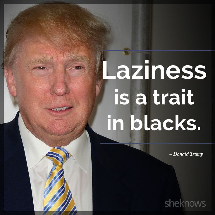 Donald Trump Racist Quotes 51 Donald Trump Quotes That Are Completely Ridiculous  Ridiculous
