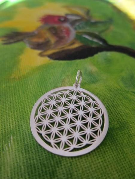 Blume Des Lebens Silber Anhanger Von Sabrinafrenzel Auf Dawanda Com Flower Of Life Crochet Earrings Jewelry