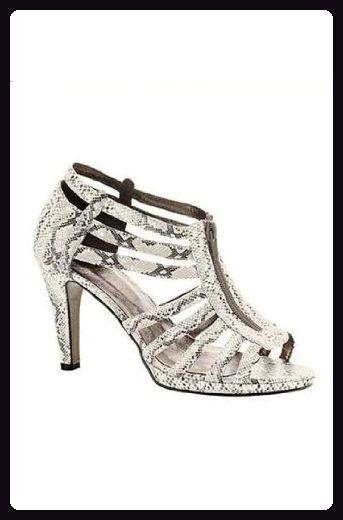 edfd3428755f2 Heine Damen-Schuhe Sandalette mit Schlangenmuster Mehrfarbig ...