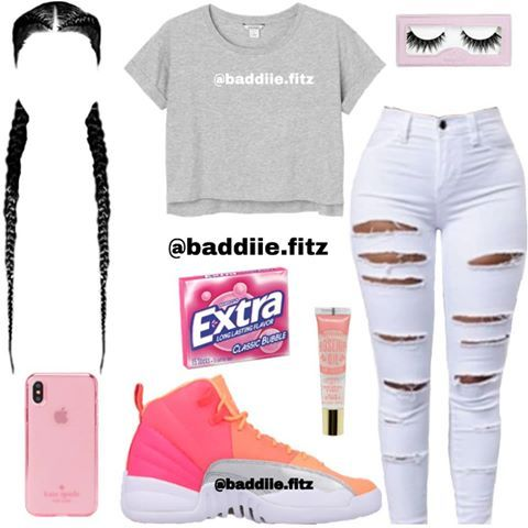 "Baddiie.Fitz on Instagram: ""Sum simple 💕 What yall Rate this Outfit 1-10?? Comment Below⬇⬇ - - If viewing Follow ( @baddiie.fitz ) For more!!💫 - - Hashtags💕✨: #baddie…"""