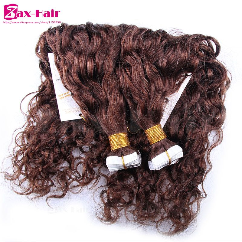 Water wave tape hair extensions indian remy tape hair extensions water wave tape hair extensions indian remy tape hair extensions virgin human hair skin weft grade pmusecretfo Images