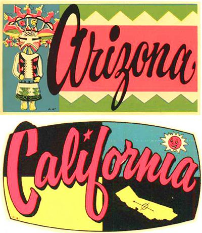 Arizona ~ California