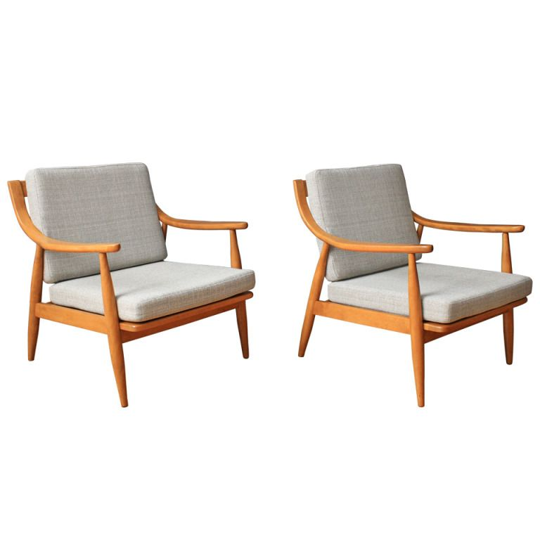 View This Item And Discover Similar Lounge Chairs For Sale At   This Is A  Pair Of Vintage Mid Century Lounge Chairs By Russel Wright For Conant Ball  ...