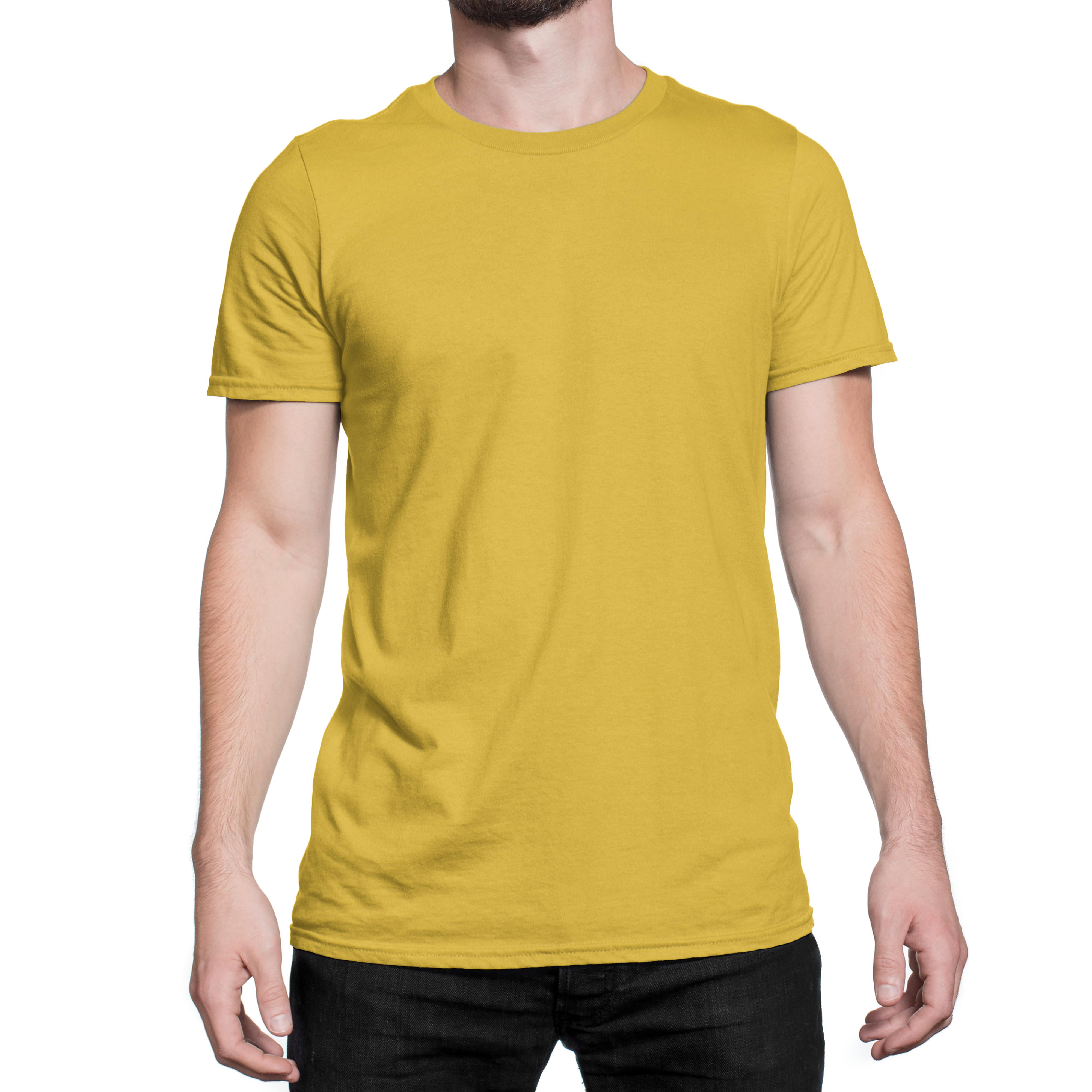 Plain Yellow T Shirt Unisex Front View Colorcapital Plain Yellow T Shirt Yellow T Shirt Mens Tops