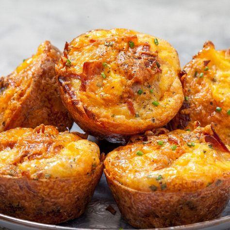 Kartoffel-Käse-Muffins: Dieses Rezept ist sooo cheesy! #sausagepotatoes