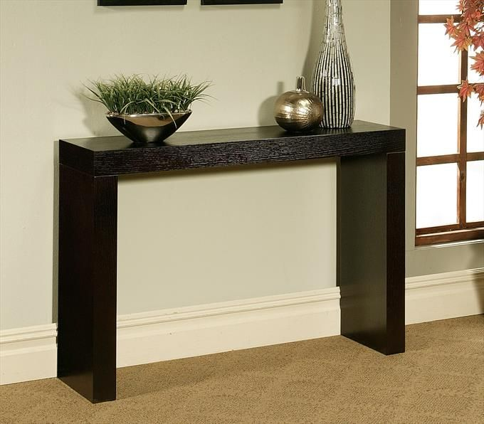 Heritage Collection Sofa Table In Espresso Homeclick Community Abbyson Living Wood Console Table Contemporary Console Table