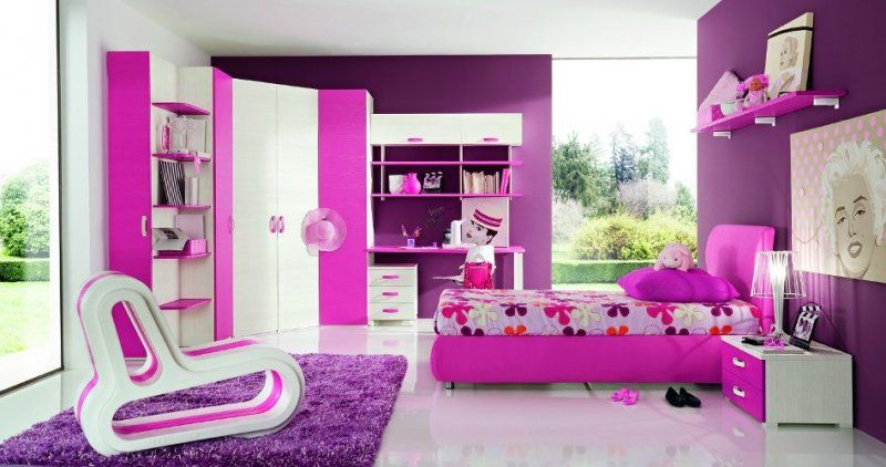 Kids Home Decor with Cute Impression | Purple rooms, Small cabinet ...