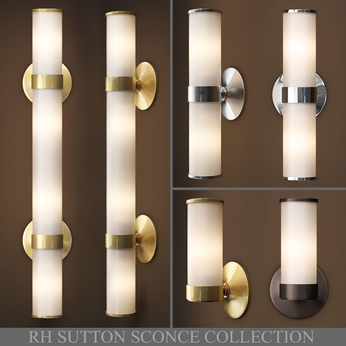 rh sutton sconce collection 3d model max obj 3ds fbx mtl mat