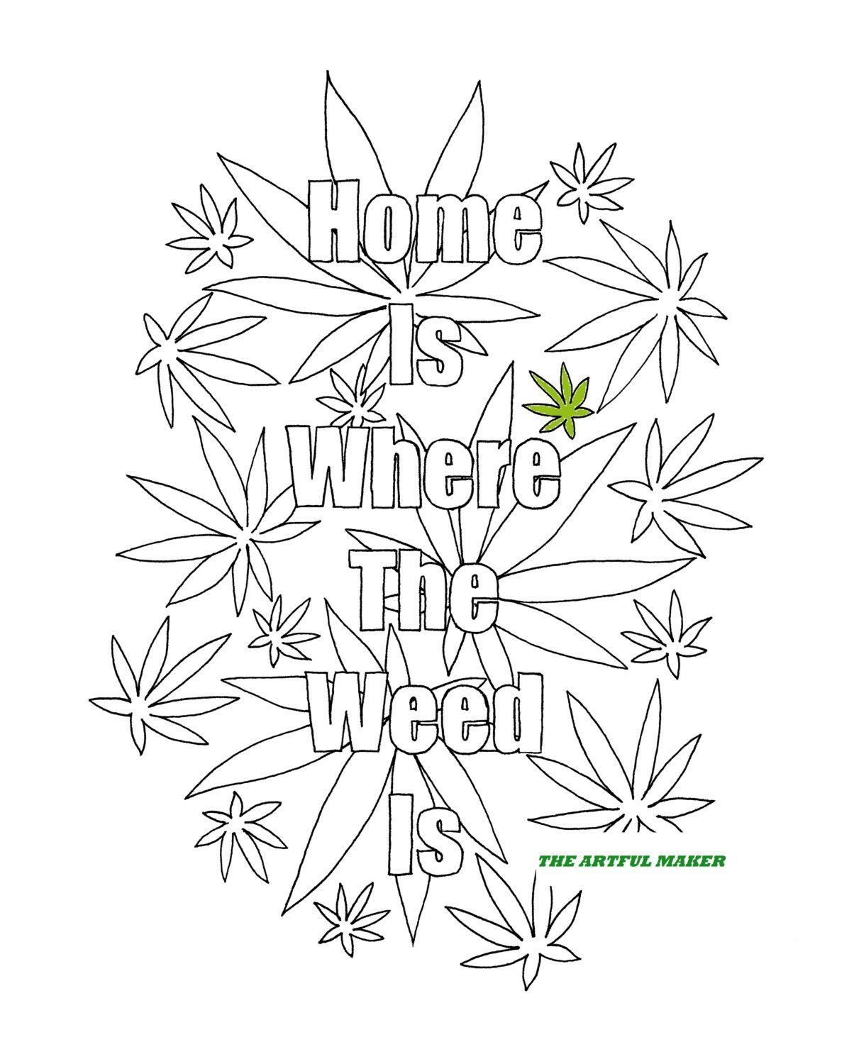 Free Printable 420 Coloring Pages
