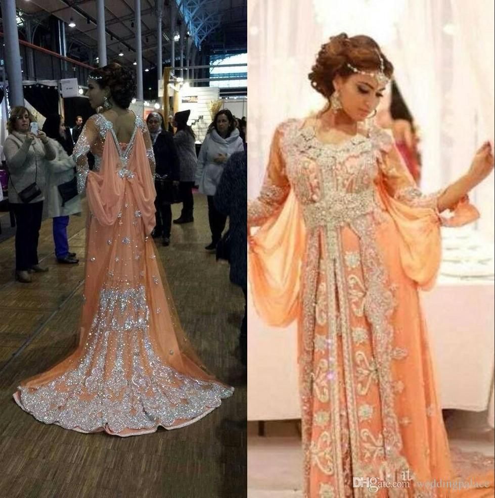 Evening Dresses Saudi Arabia Long Sleeves Evening Dresses 2019 Dubai Kaftan Lace Elegant Party Lace Zipper Vintage Moroccan Muslim Formal Gowns