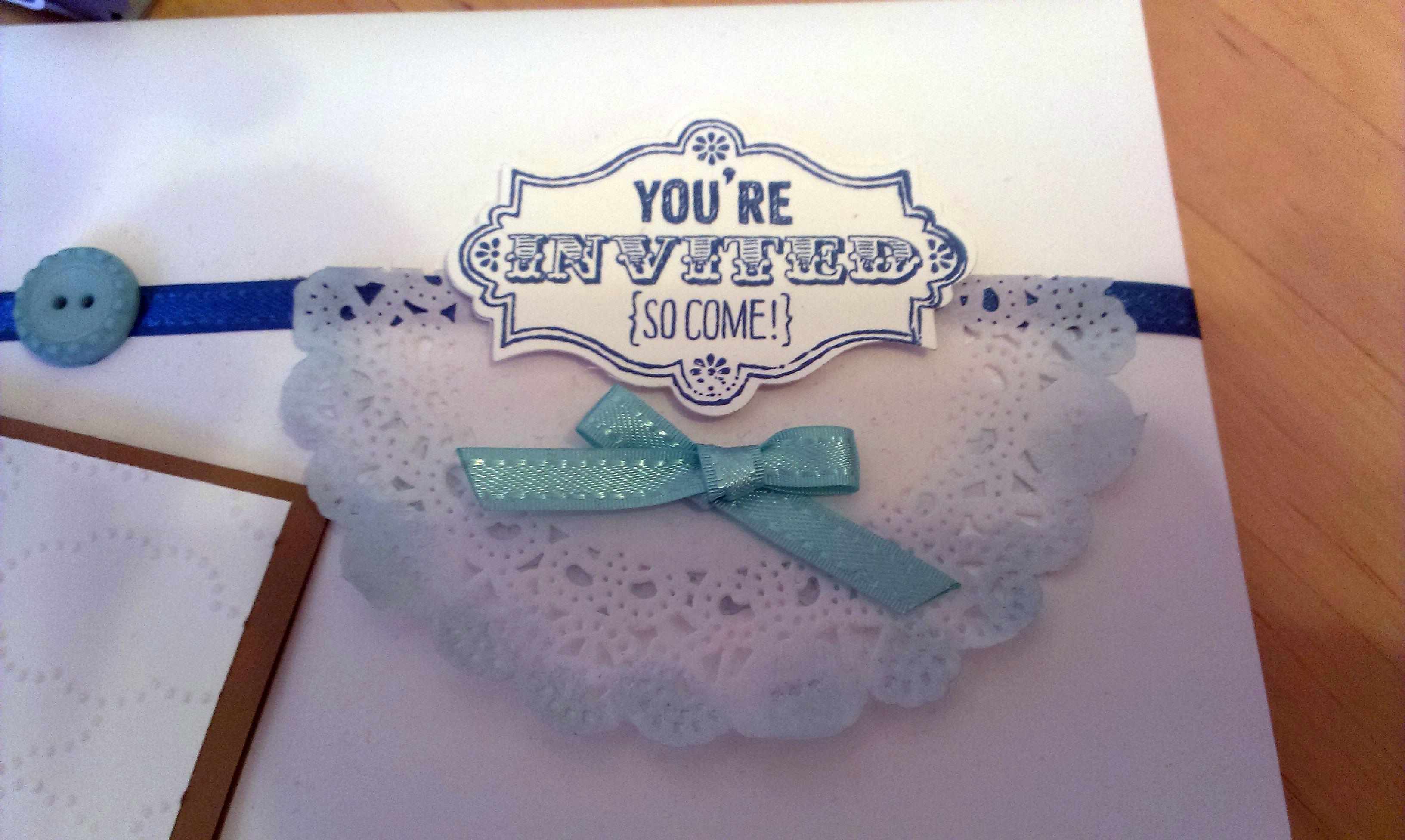 Umschlag Für Eine Babyparty Einladung Mit Stampin Up Produkten