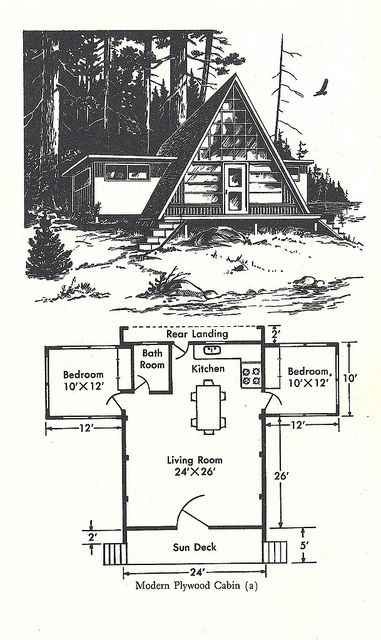 Wilderness Cabin 3 A Frame House Plans A Frame House Cabin House Plans