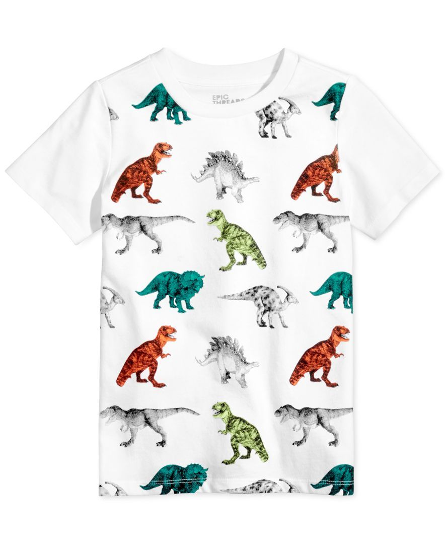 09d9a436a232 Epic Threads Dinosaur-Print T-Shirt, Toddler & Little Boys (2T-7), Only at  Macy's