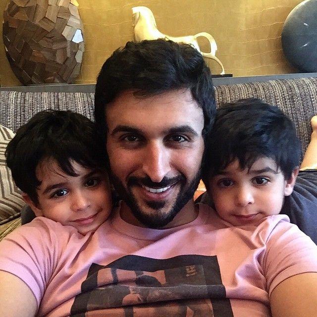 Nasser bin Hamad bin Isa Al Khalifa con sus hijos, 01/03/2015. Vía: nasser13hamad