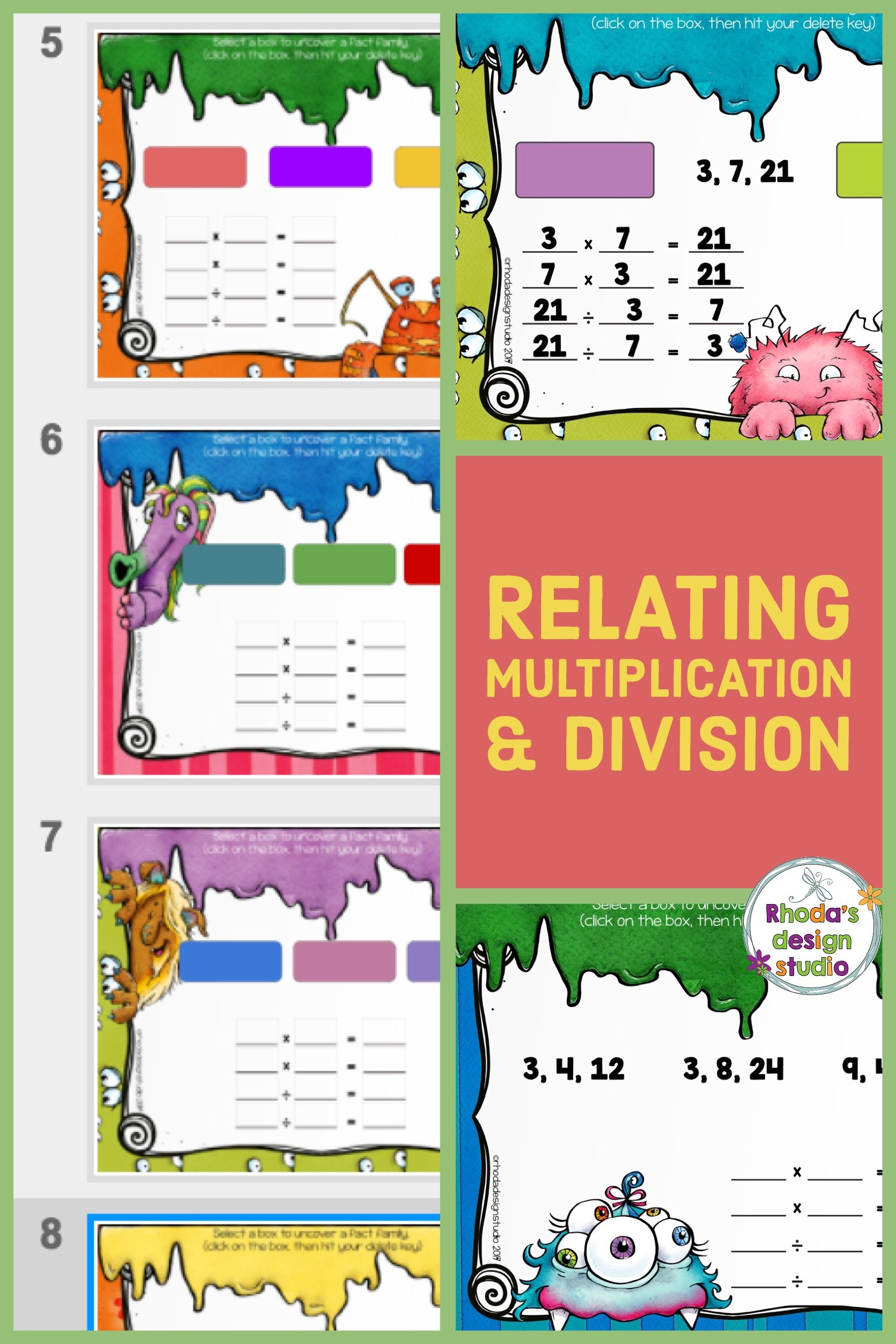 Relating Multiplication And Division Fact Family