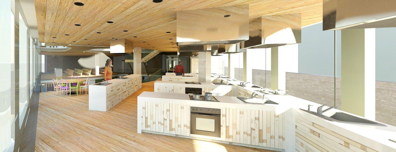 Enjoyable Caroline Maguire Designs Culinary School 3D Render My Interior Design Ideas Clesiryabchikinfo
