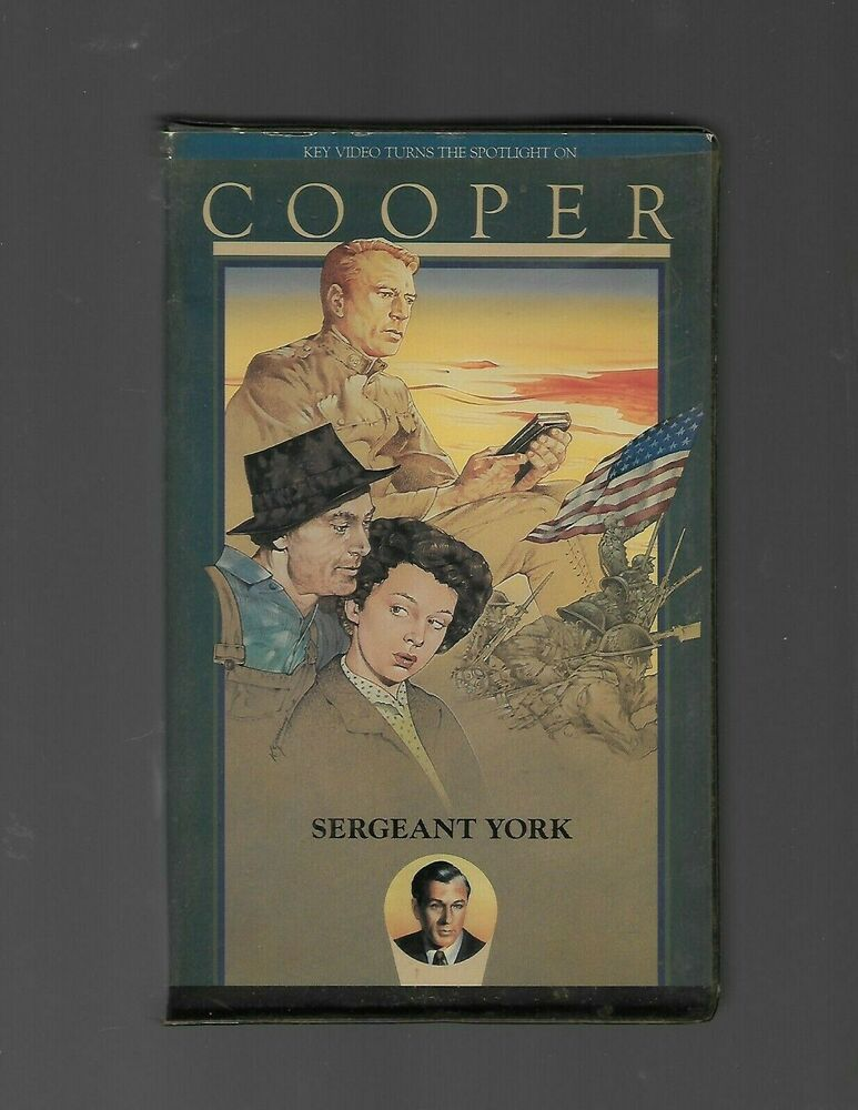 Sergeant York Vhs Clam Shell Key Video Gary Cooper Sergeant