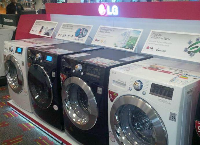 Adglow Lg Washing Machine Store Display Illuminated Signage