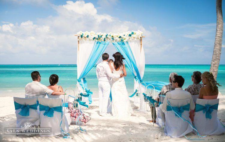 White And Turquoise Punta Cana Beach Wedding Vals Weddings