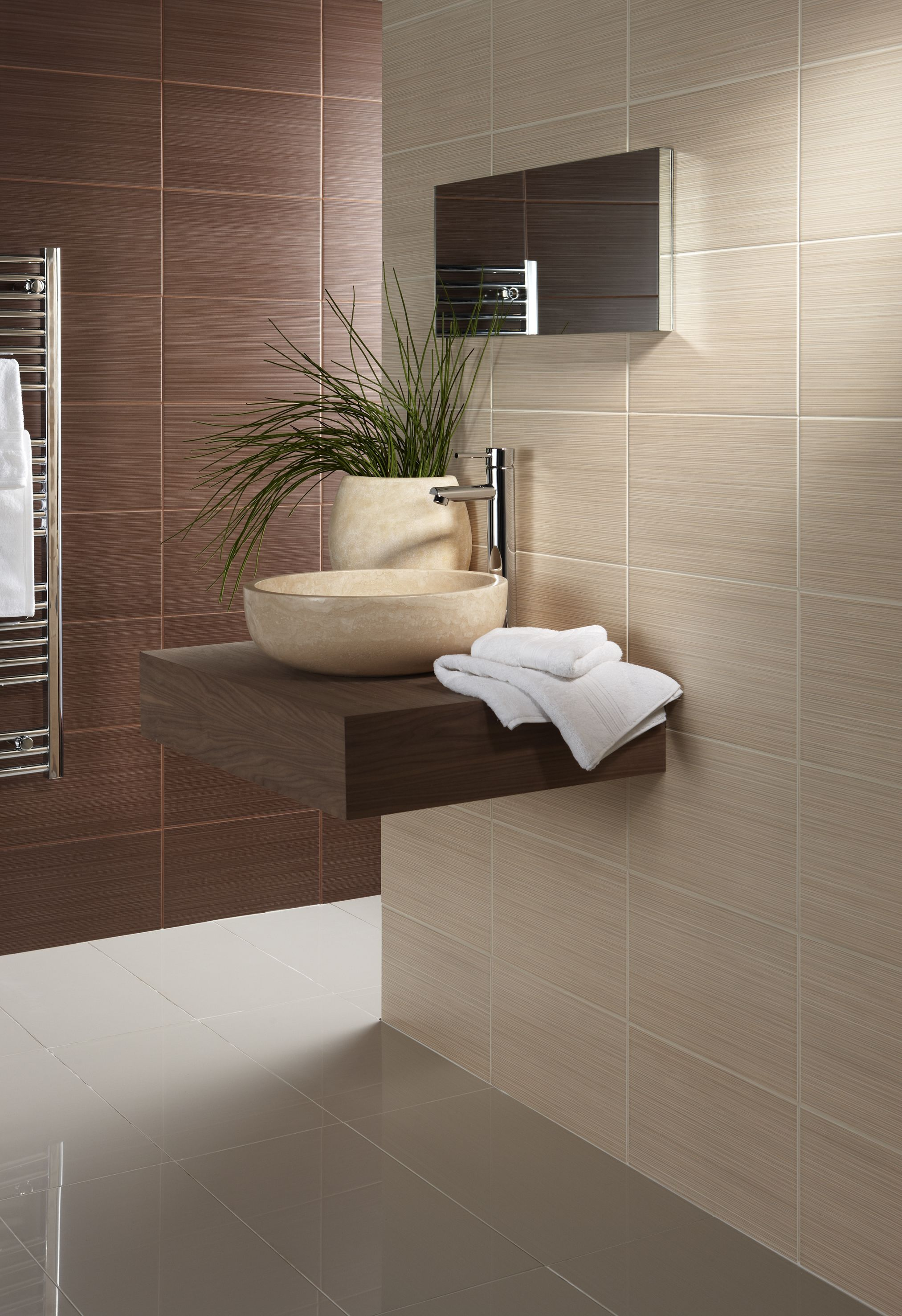 Willow satin wall tiles by British Ceramic Tiles UK Available in