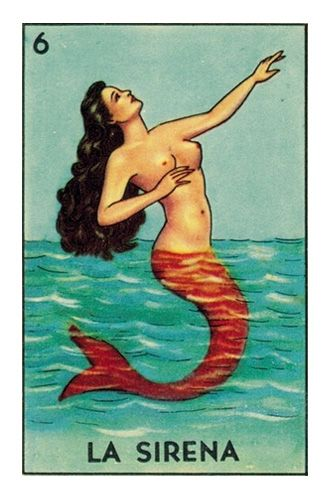 The classic La Sirena card from the Loteria deck produced by Don Clemente / Pasatiempos.