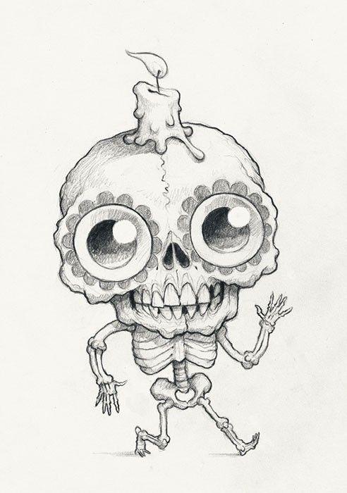 Chris Ryniak – Spooky Scribble #401   Cute monsters ...
