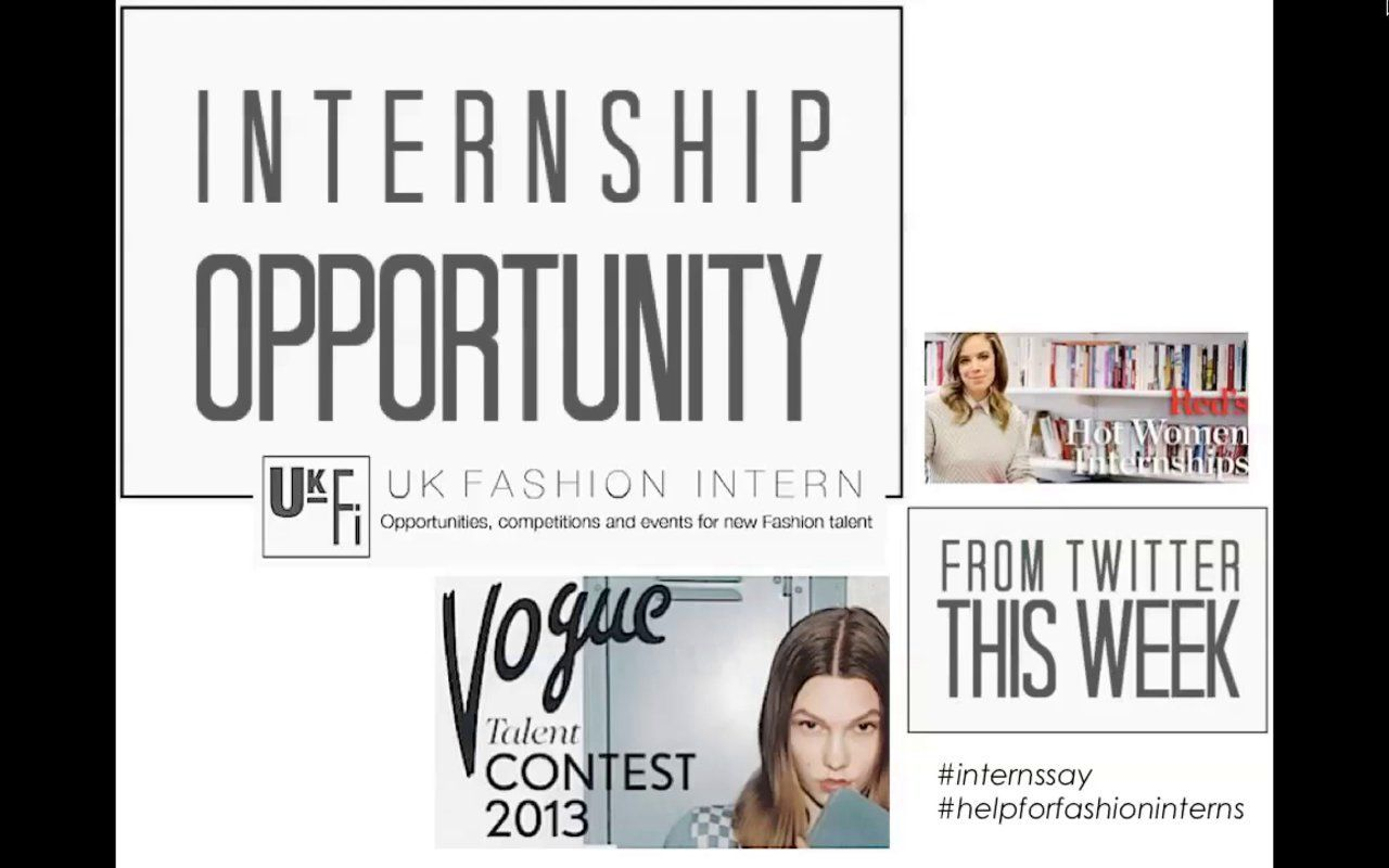 Audio tips for getting a fashion internship