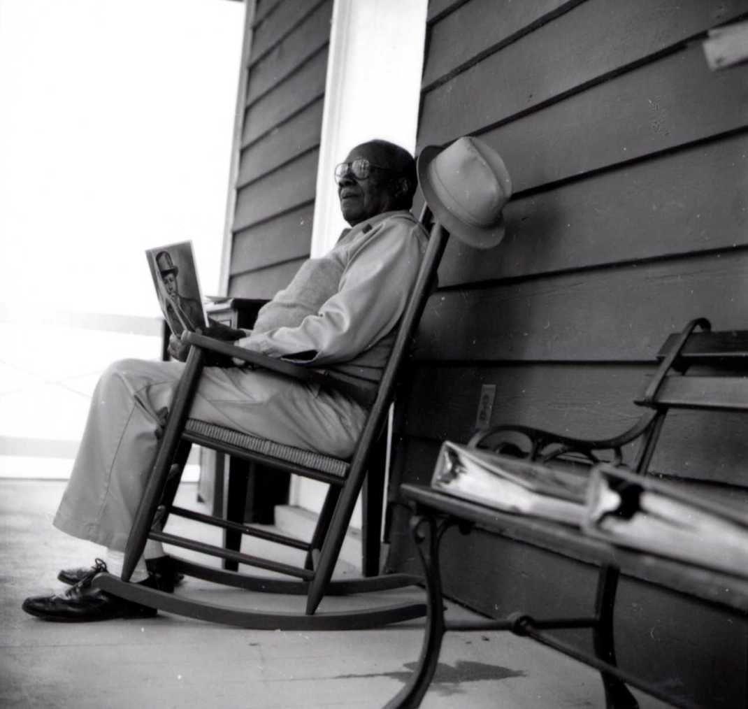 Black Man In A Rocking Chair