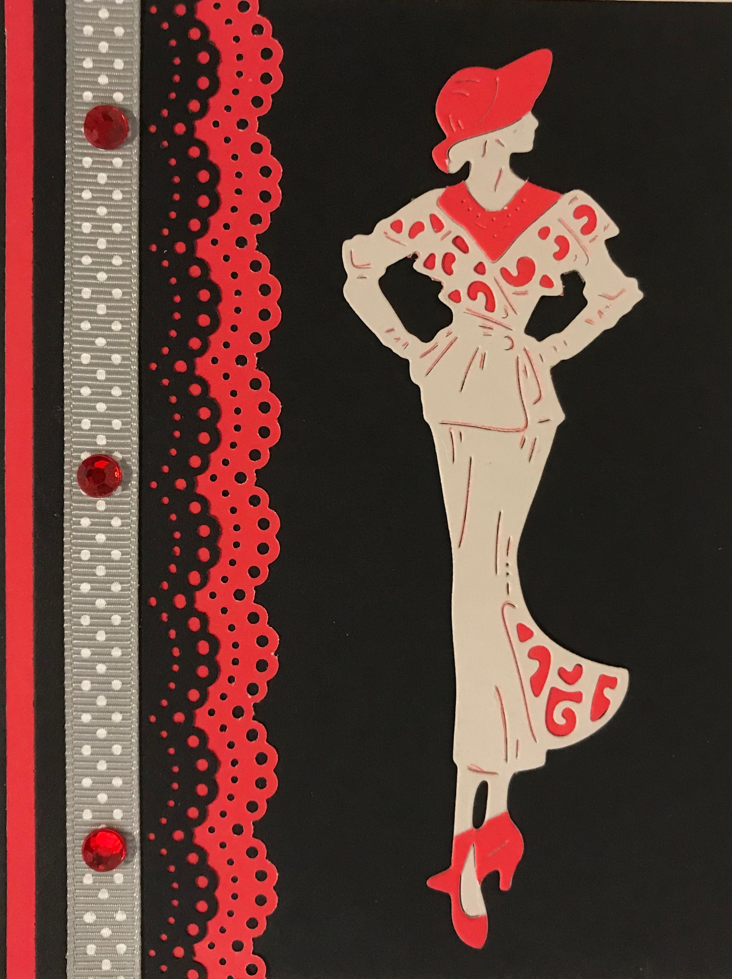Elegant lady birthday cardbirthday cardhomemade cardshandmade