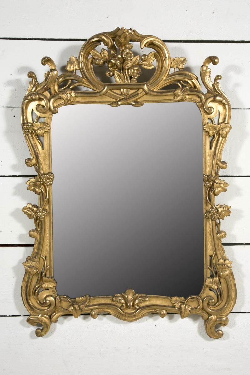 miroir provencal bois dore epoque xviii