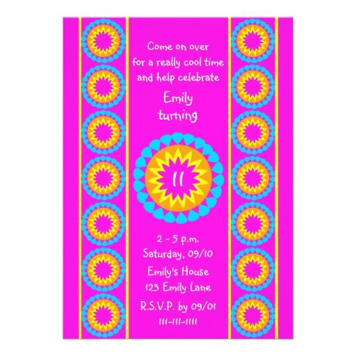 Cool 11 Years Old Birthday Invitations Download this invitation - birthday invitations free download